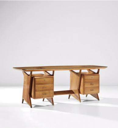 Gio Ponti, Executive desk, ca. 1951. Courtesy Phillips