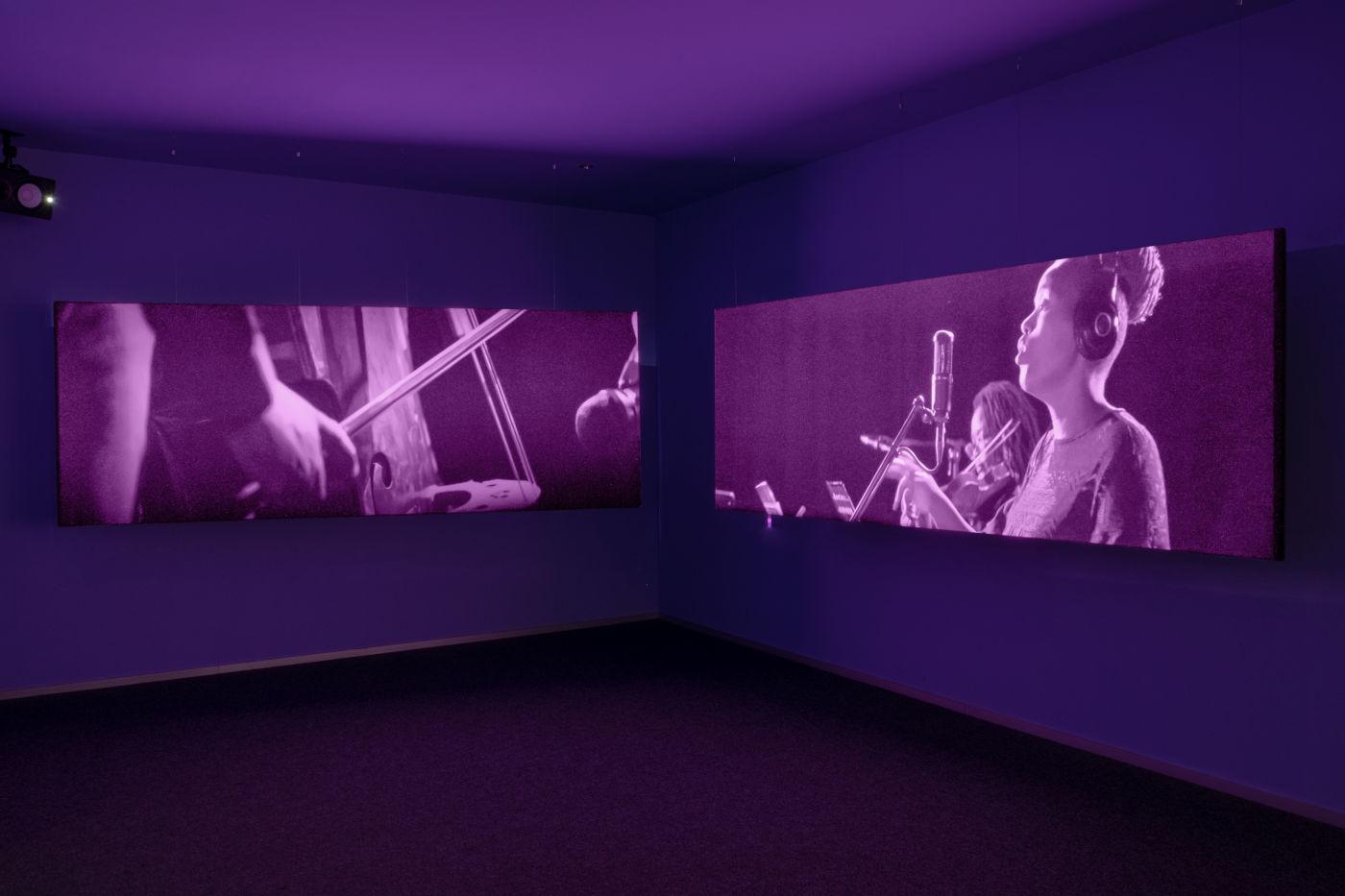 Una foto della mostra alla Goodman Gallery