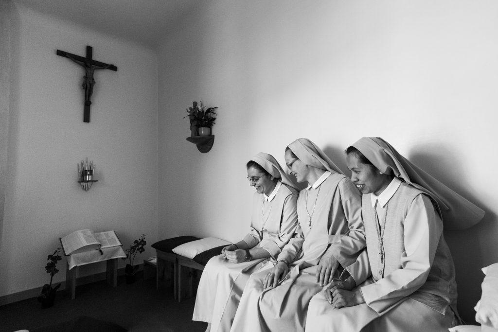 Uno dei momenti condivisi dalle suore in (Courtesy: Valeria Luongo) convento