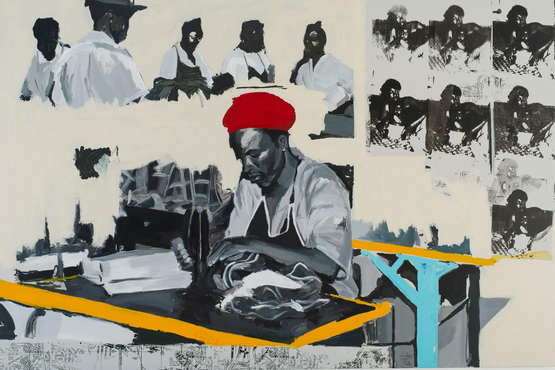 Kudzanai-Violet Hwami - Sam in Mother's Factory (Courtesy of Tyburn Gallery)
