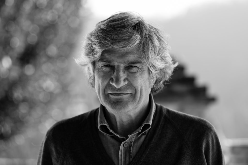 Giuseppe Penone, ritratto, San Raffaele 2013 (courtesy of Archivio Penone)