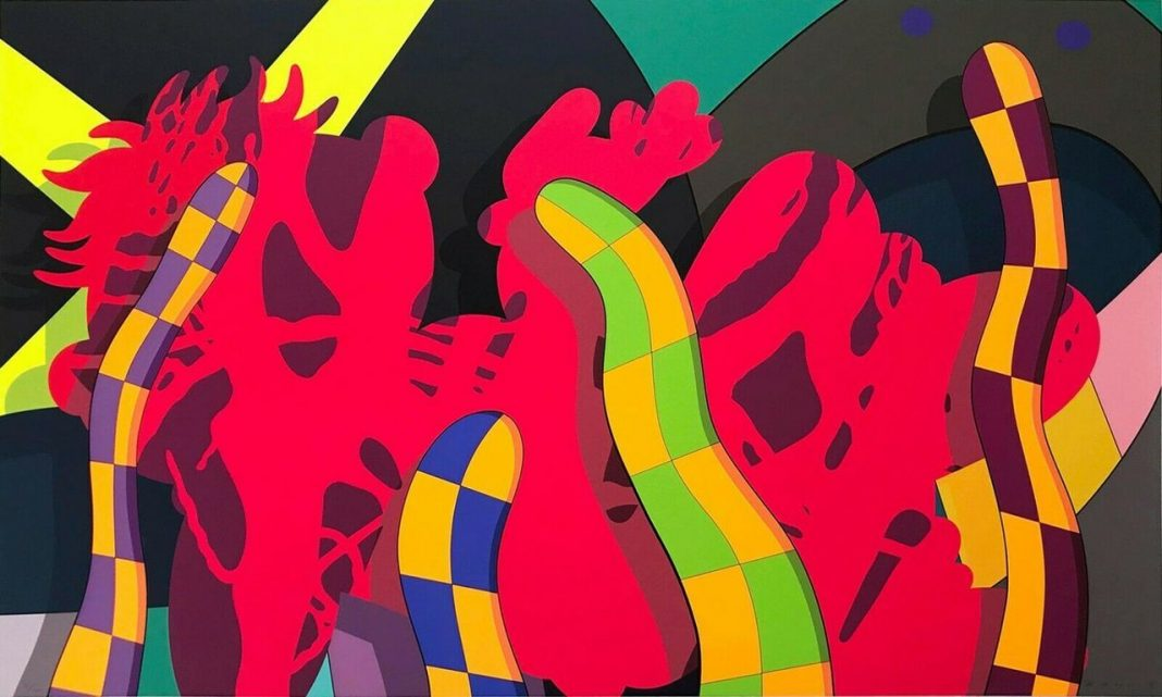 """KAWS, """"Lost time"""", 2018"""