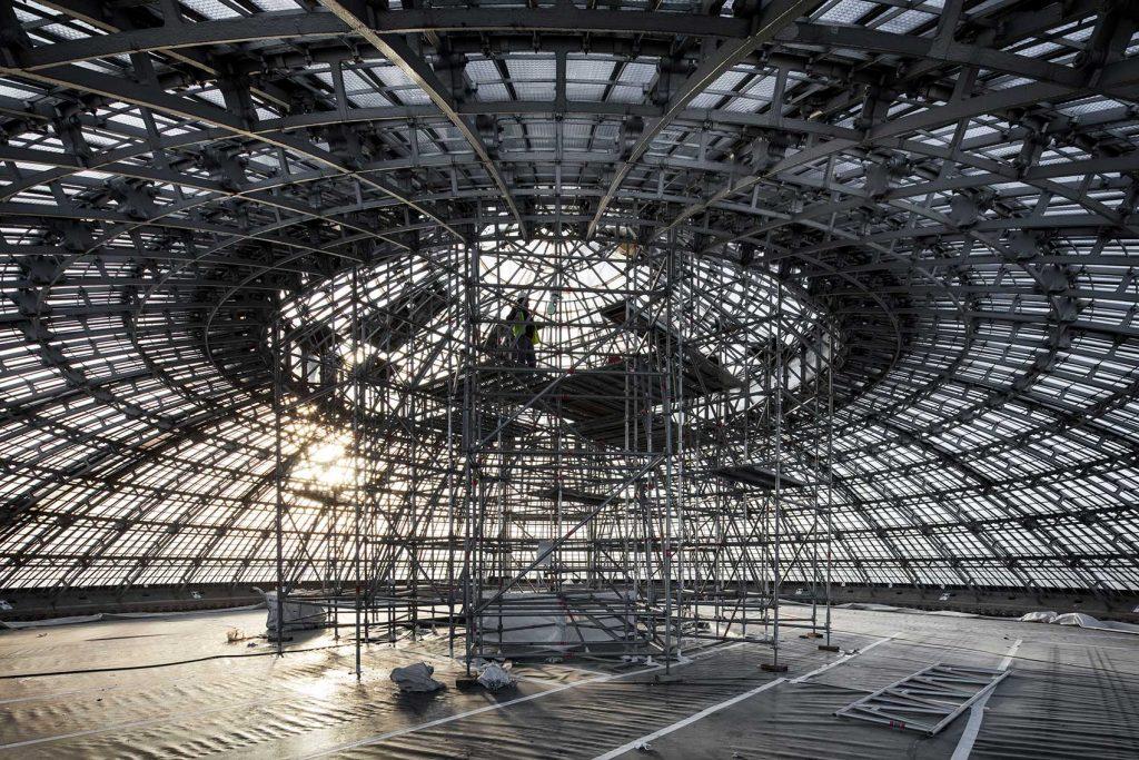 Cantieri in corso della Collezione Pinault alla Bourse di Parigi