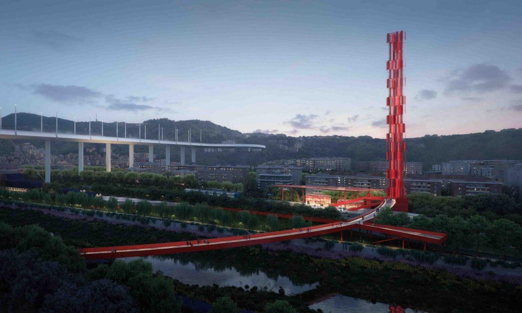 Il Cerchio Rosso e la Torre del Vento (Courtesy: Stefano Boeri Architetti)