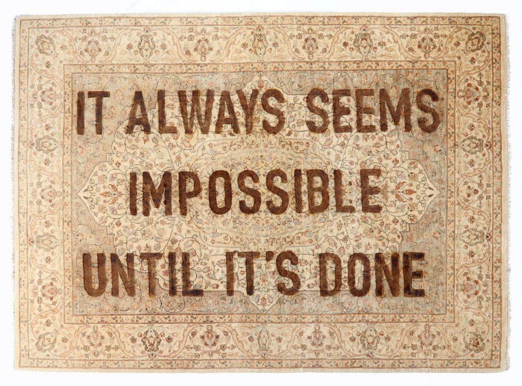 Loredana Longo, It always seems impossible until it's done