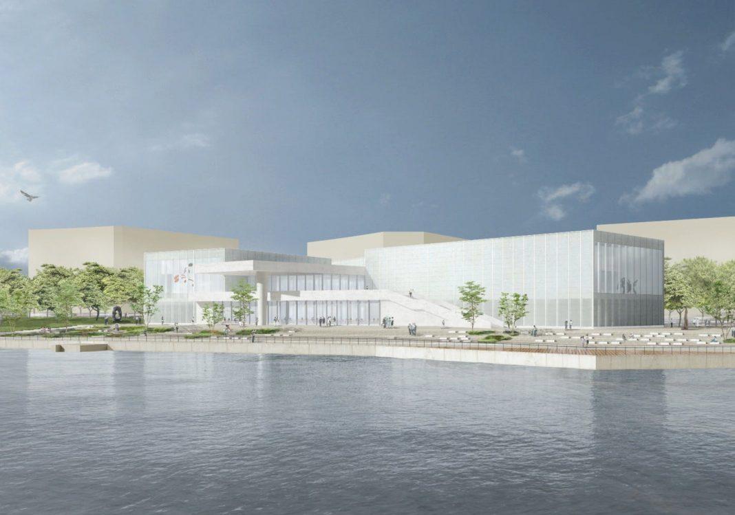 Il West Bund Museum di Shanghai, sede cinese che ospiterà il nuovo ramo del Centre Pompidou