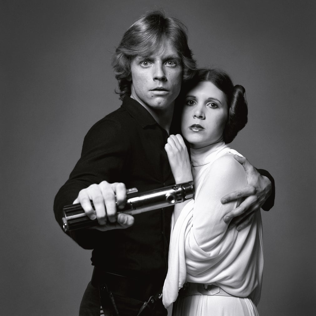 Mark Hamill e Carrie Fisher, 1977