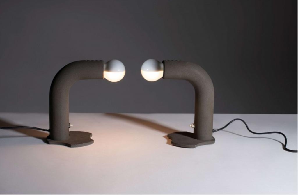 Gino Sarfatti, due lampade da tavolo mod. 523, 1964. (lot n. 98)