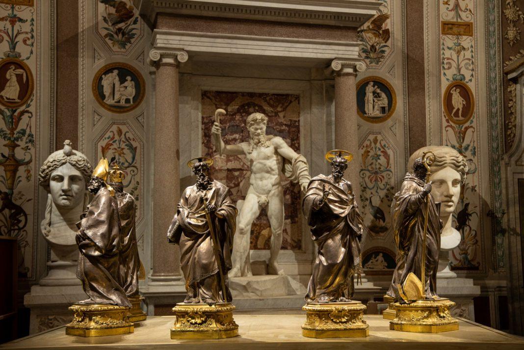 Luigi Valadier, Santi, argento e metallo dorato, 1770-1773, Monreale, Basilica Cattedrale di Santa Maria Nuova