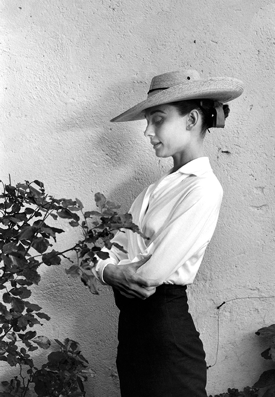 """1959. Actress Audrey Hepburn during filming of """"The Unforgiven,"""" directed by John Huston."""