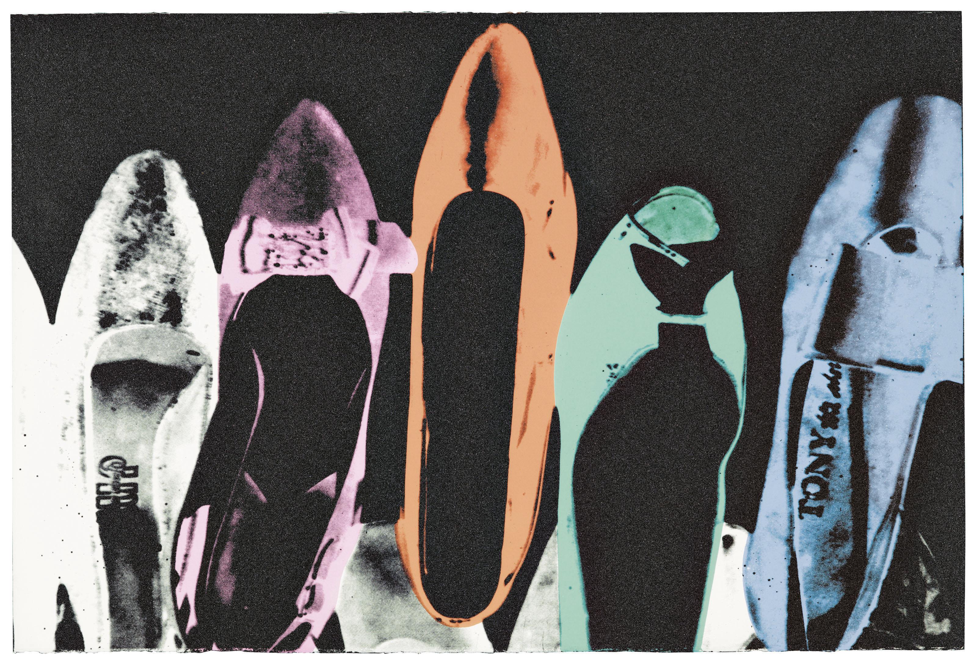 Una delle versioni di Dust Diamond Shoes, realizzata nel 1980 da Andy Warhol. (Courtesy: Christie's)