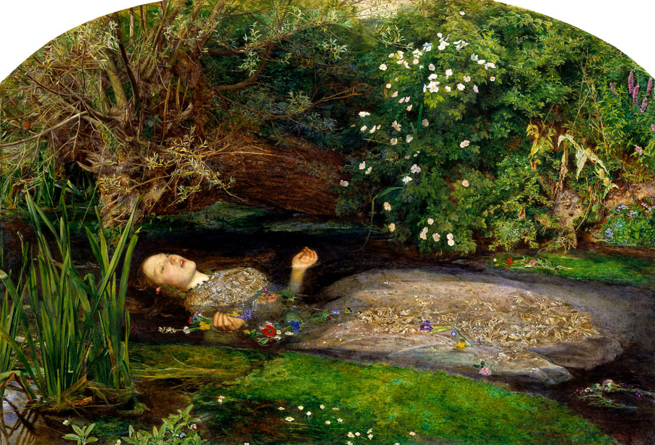 John Everett Millais, Ophelia, 1851–1852, Tate Gallery, London