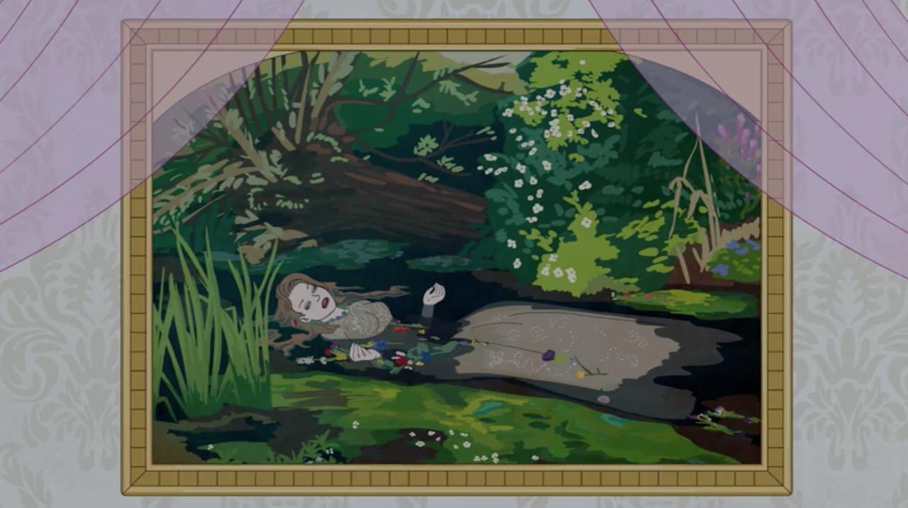 Nella stanza di Sarah Lynn spunta il dipinto che la vede protagonista del capolavoro di Millais (Courtesy: Netflix)