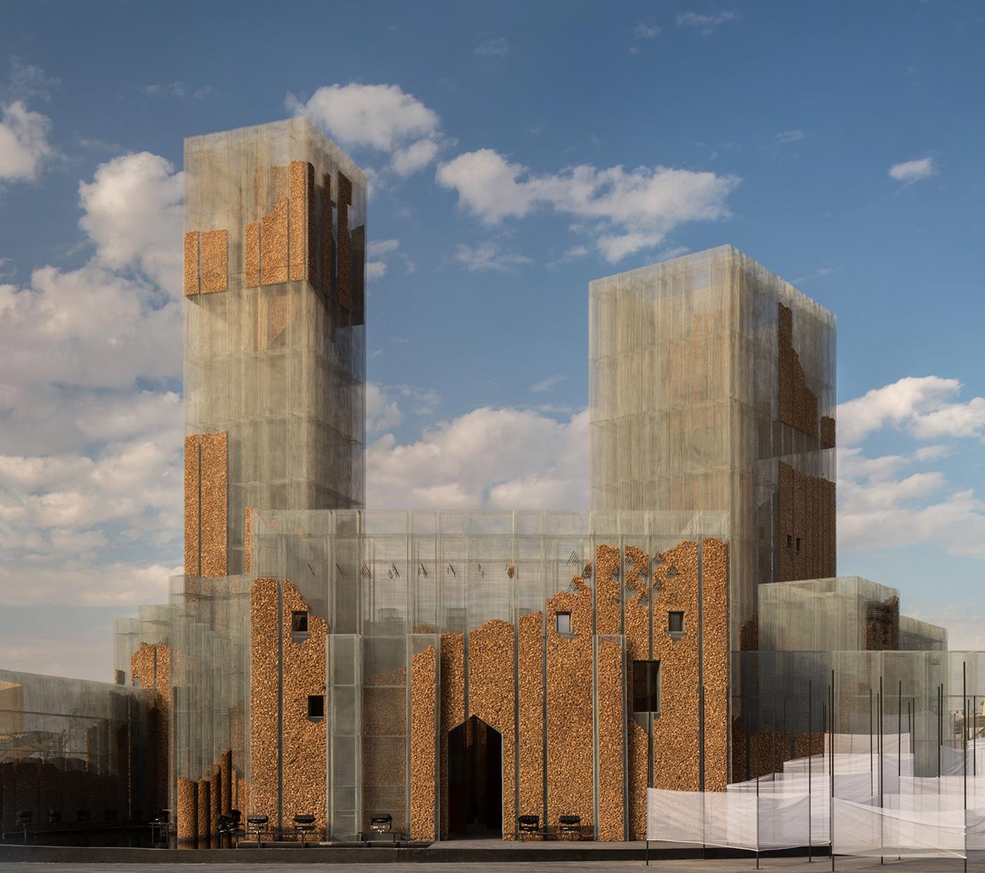 "Edoardo Tresoldi, ""Gharfa"". Realizzata da Studio Studio Studio e curata da Designlab Experience. Riyadh, Arabia Saudita. © Roberto Conte"