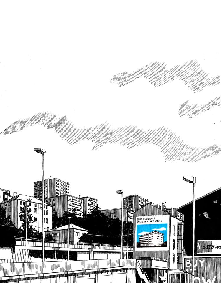 """Uno degli ultimi lavori di Eliana: il disegno presentato al concorso """"renner"""" di quest'anno, esposto alla mostra collettiva del progetto (Courtesy: Eliana Albertini)"""