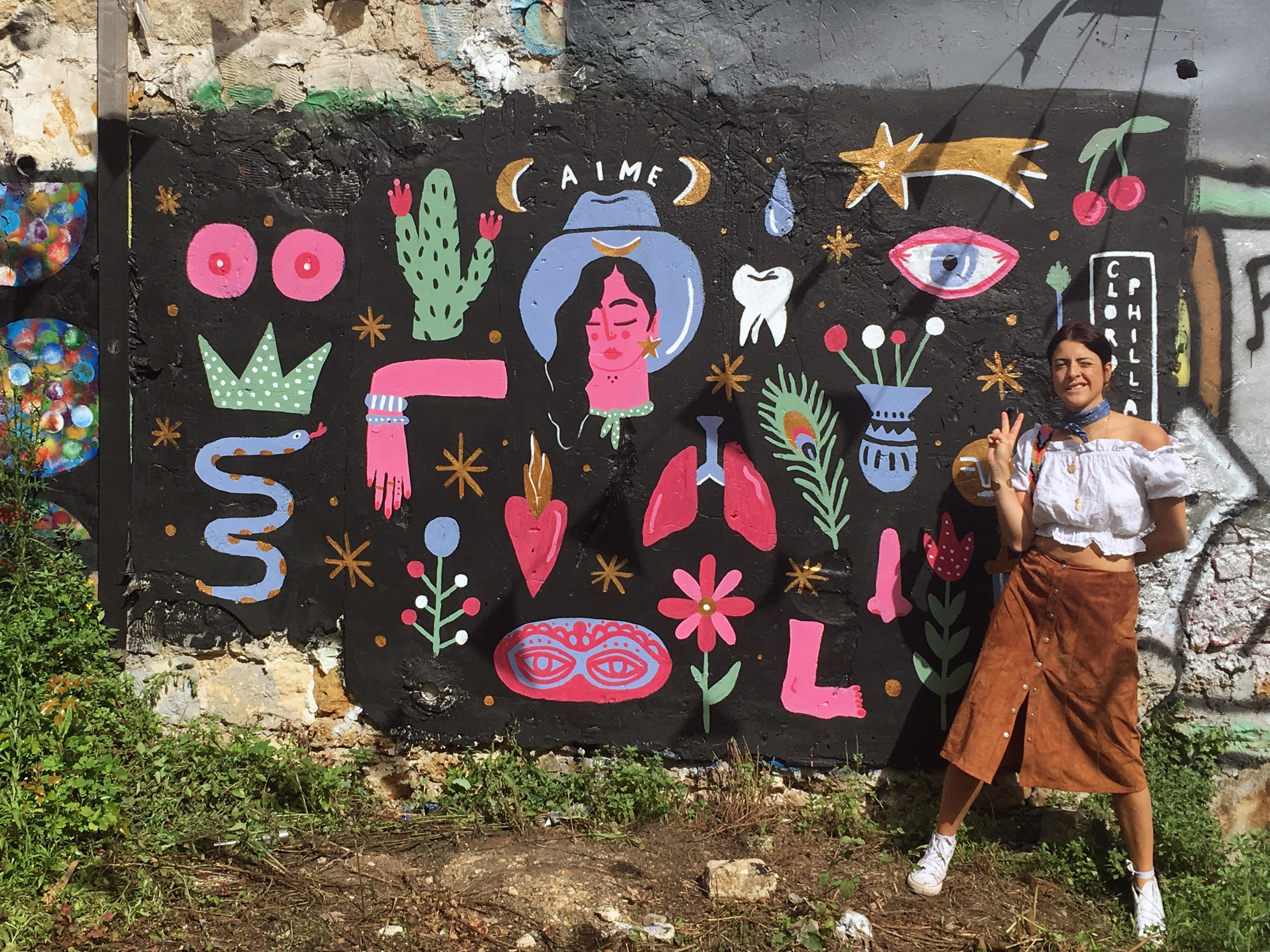 """""""Aime"""", murales a Montmartre, Parigi (courtesy of the artist)"""