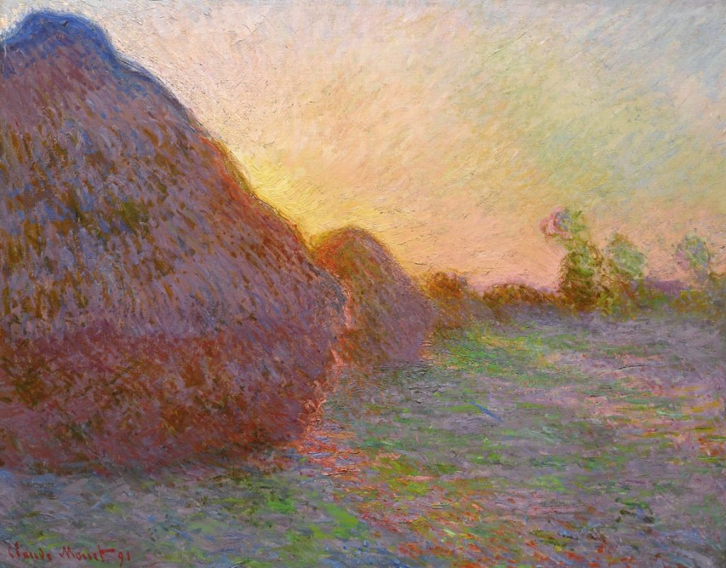 "Claude Monet, ""Meules"", 1890. Image courtesy of Sotheby's"