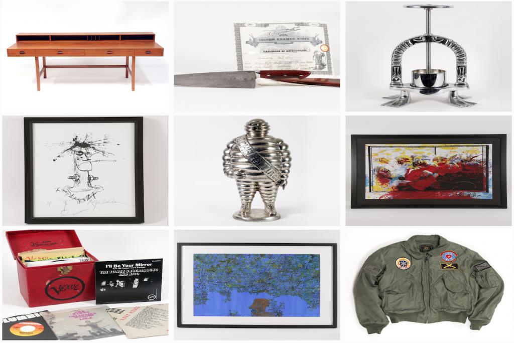 La collezione di Anthony Bourdain all'asta