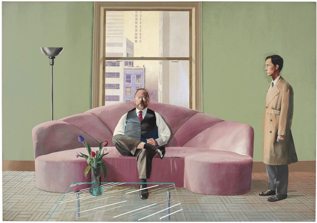 "David Hockney, ""Henry Geldzahler and Christopher Scott"", 1969"