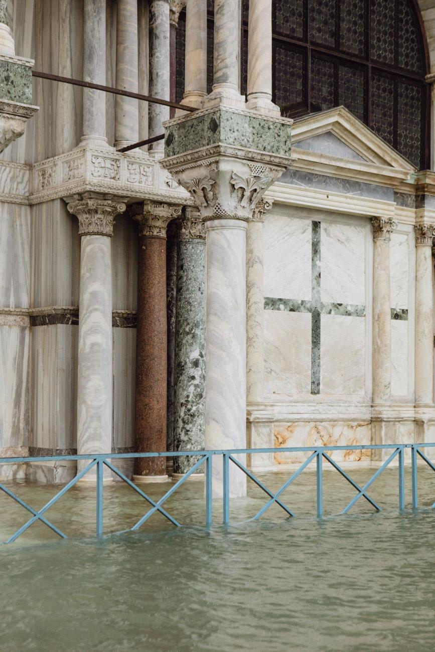 Piazza San Marco, Venezia, Italia, Novembre 2019. Eccezionale acqua alta in Piazza San Marco a Venezia, negli ultimi giorni. Foto: Matteo de Mayda