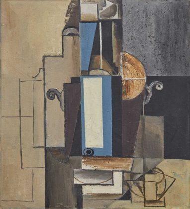 """Emil Filla, """"Composizione cubista"""", 1912. Lotto n. 79. Asta Pandolfini"""