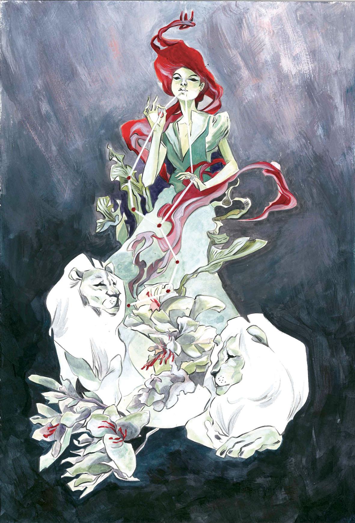Ozma: illustrazione ad acrilico, studio di personaggio ispirato a Ozma di Oz (Il Meraviglioso Mago di Oz, Baum) (Courtesy: La 3am)