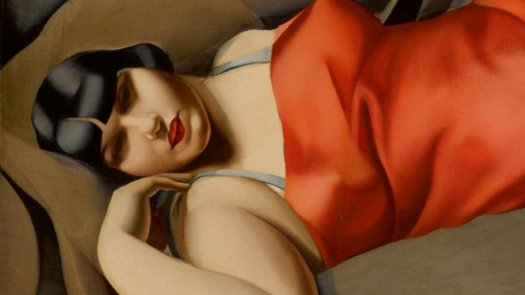 "Tamara de Lempicka, ""La Tunique rose"", 1927. Image courtesy of Sotheby's."