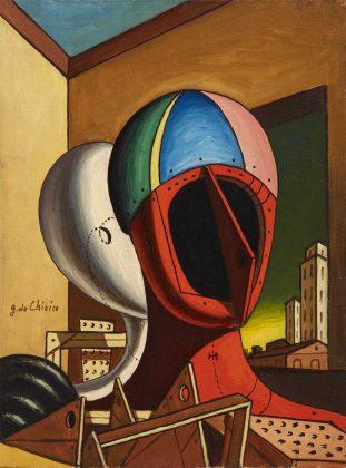 """Giorgio de Chirico, """"Oreste e Pilade"""", 1961. Lotto n. 80. Asta Pandolfini"""