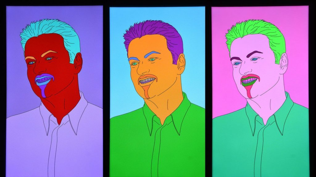 """Michael Craig-Martin, """"Commissioned Portrait Untitled (George)"""", 2007. Courtesy of Christie's"""