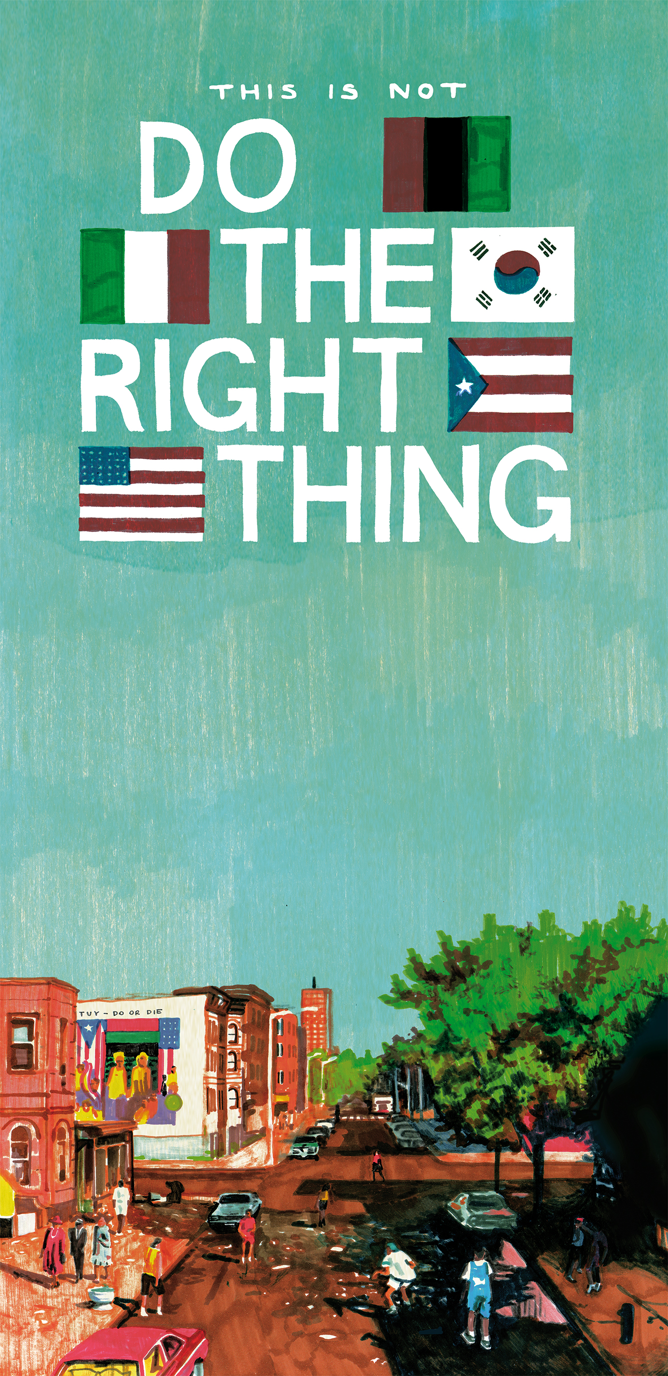 Locandina per VHS 034 – (THIS IS NOT) DO THE RIGHT THING – SPIKE LEE di This Is Not A Love Song (Courtesy: Eliana Albertini)