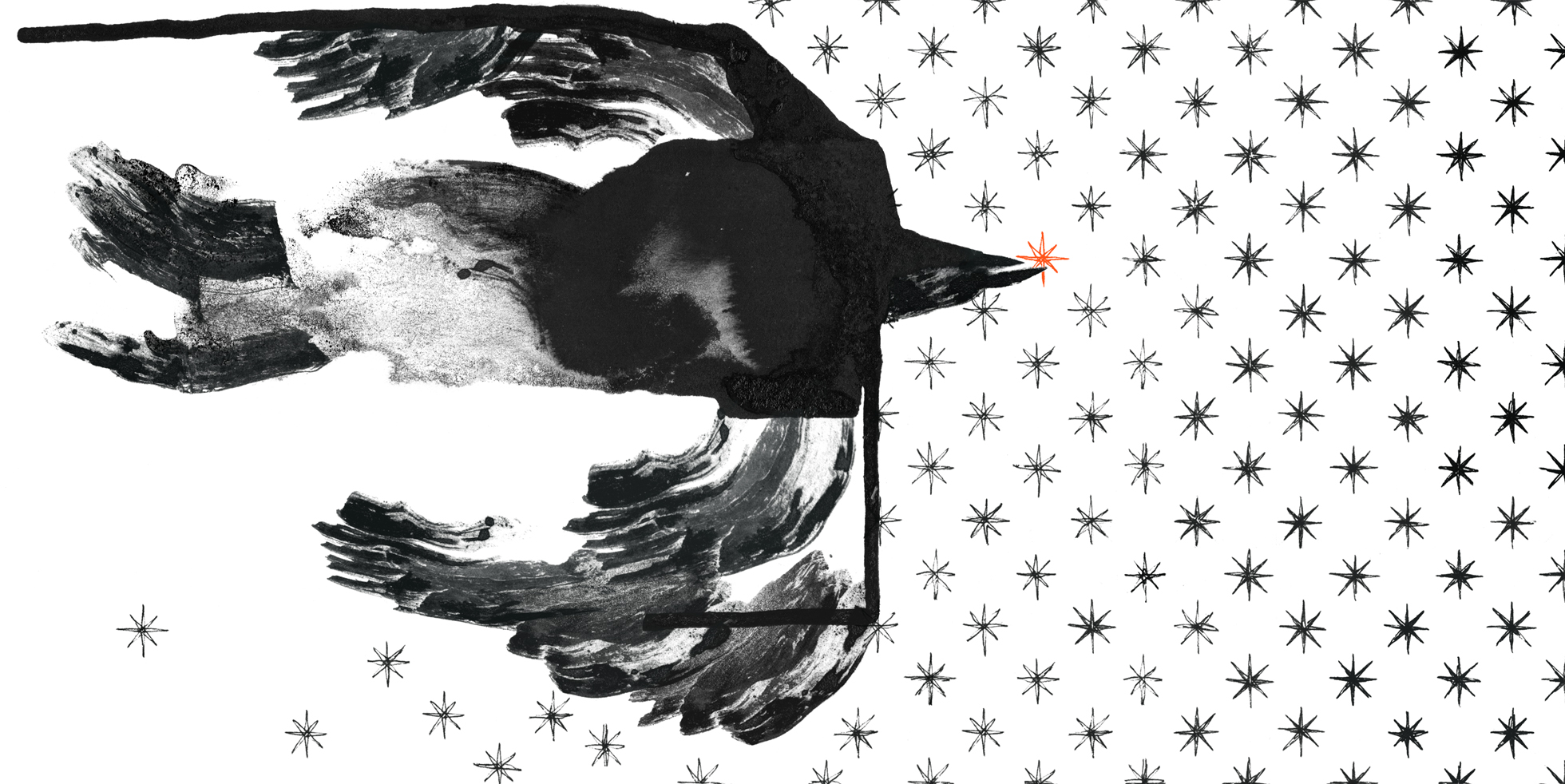 Margherita Morotti - Star Thief, inchiostro e colori ad olio, rielaborazione digitale