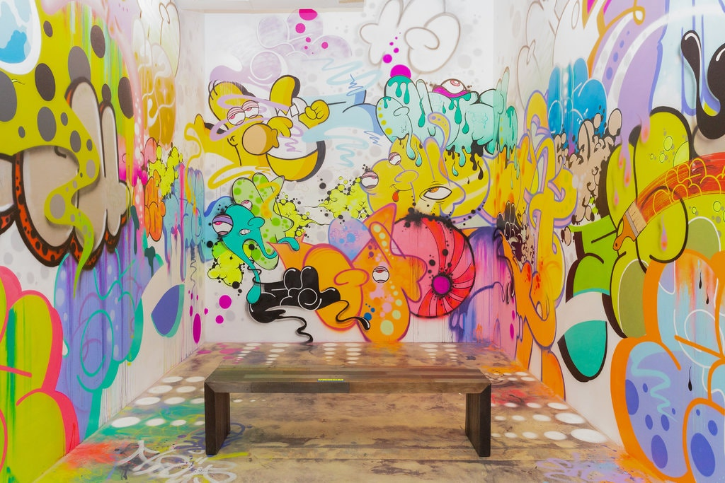 Il lavoro di Ghost and Giz RIS per il museo dei graffiti che ha aperto giovedì a Miami (Courtesy: Melanie Metz for The New York Times)