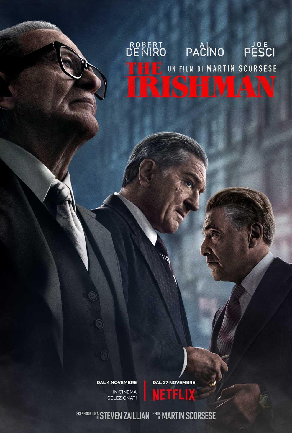 La locandina di The Irishman (courtesy: Netflix)