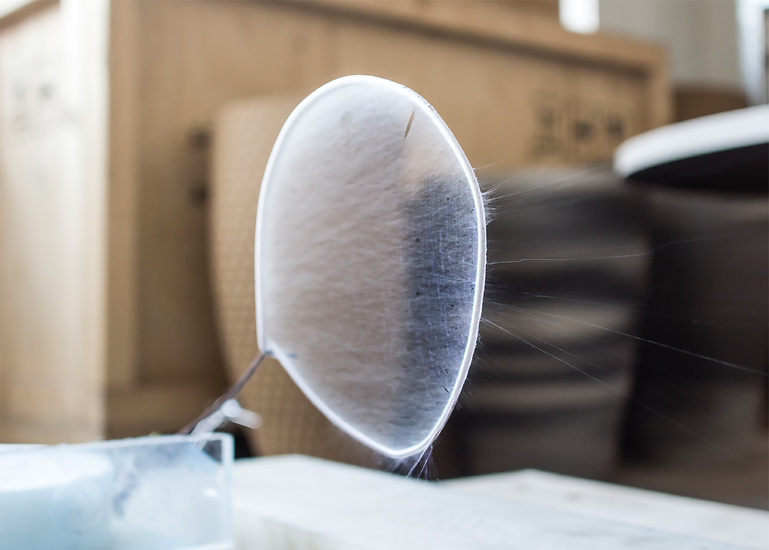 Borse di studio 2016-2017, Fondazione Adolfo Pini. Designer Olivier van Herpt, creazione stampa 3D della seta; Ilaria Francesca Andreoli (Courtesy: Fondazione Adolfo Pini)