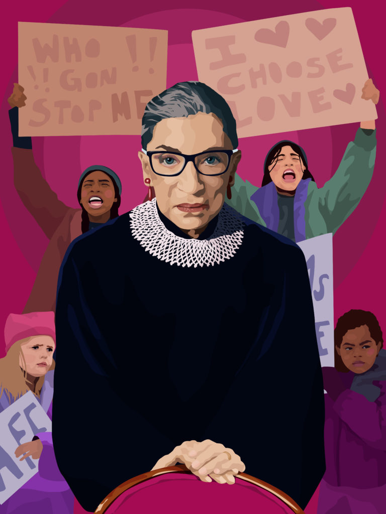 Ameya Marie Okamoto, The Notorious RBG (2018). Courtesy of the artist and Downtown for Democracy.