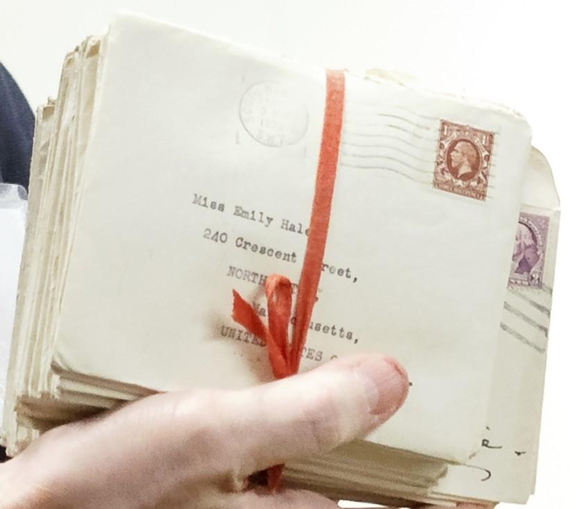 Alcune delle lettere dello scambio epistolare tra T.S. Eliot ed Emily Hale (Shelley Szwast/Princeton University Library)