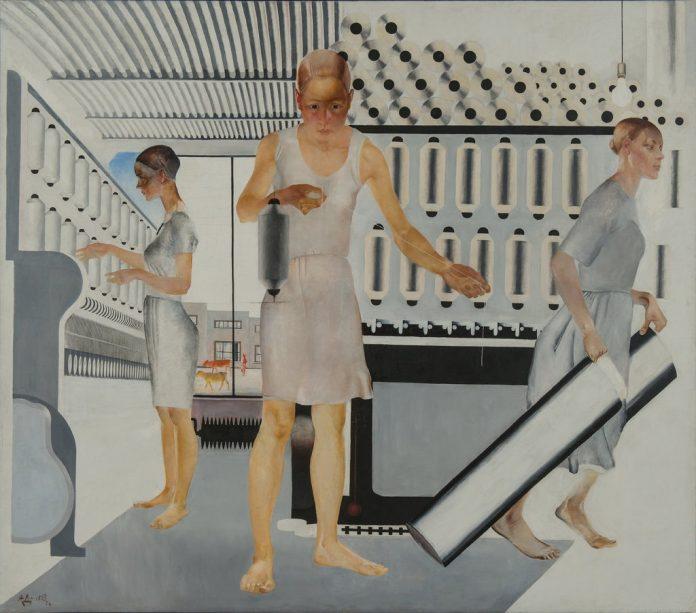Textile Workers è una delle opere di Aleksander Deineka in mostra a San Pietroburgo. Ne parliamo nella selezione di notizie dal mondo di exibart.artworld (Courtesy: State Russian Museum)