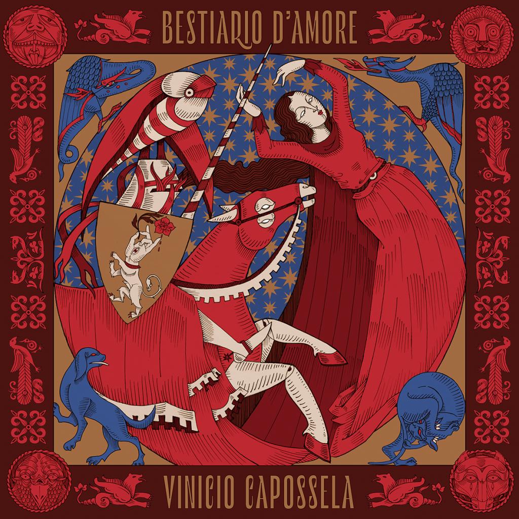Cover di Bestiario d'Amore di Vinicio Capossela, uscito il 14 Febbraio 2020