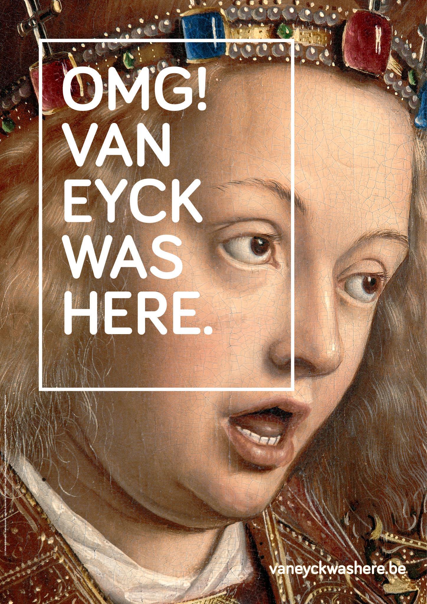 VisitFlanders promuove la campagna OMG! Van Eyck was here, un progetto che coinvolgerà l'intera città di Gent per tutto l'anno