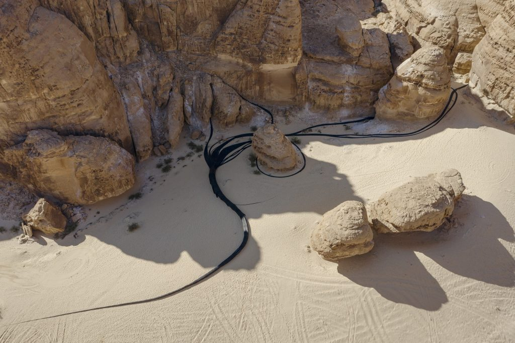 Muhannad Shono, The Lost Path, installation view at Desert X AlUla, photo Lance Gerber, courtesy the artist, RCU and Desert X