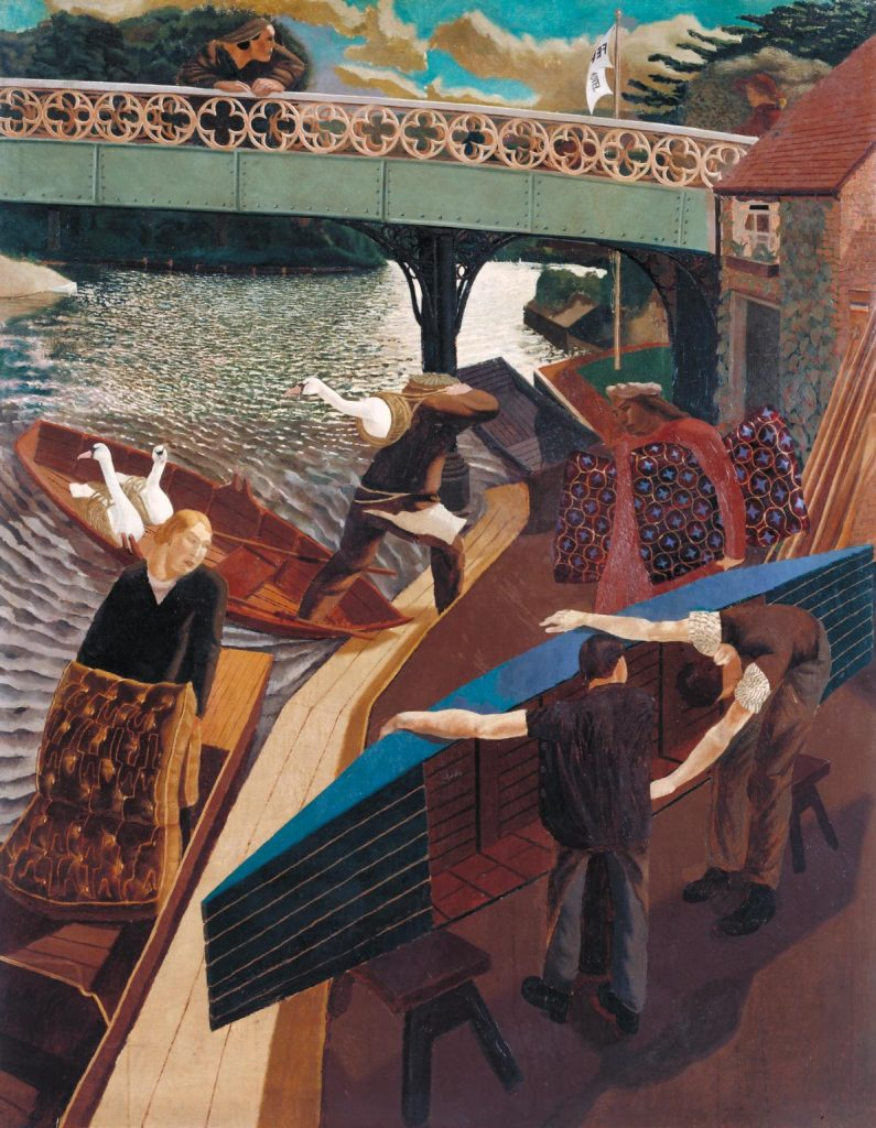 Swan Upping at Cookham 1915-9 Sir Stanley Spencer 1891-1959 Presented by the Friends of the Tate Gallery 1962 http://www.tate.org.uk/art/work/T00525