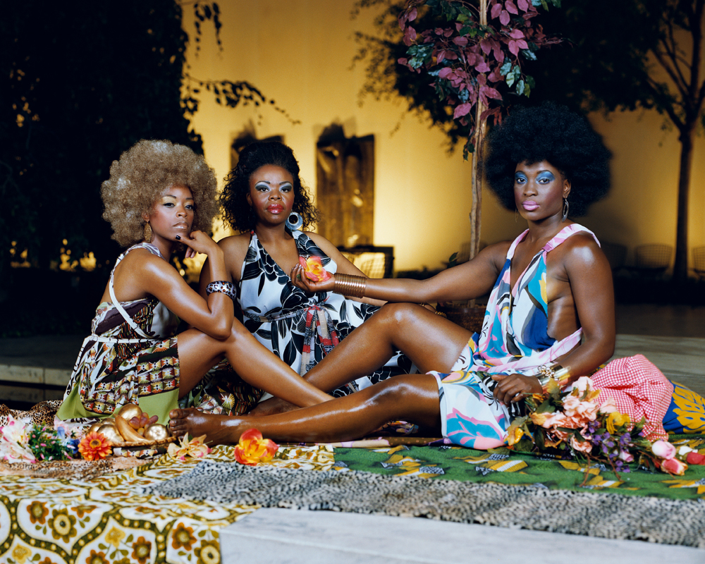 Le dejeuner sur l'herbe: trois femmes noires, 2010. Courtesy of the artist, Susanne Vielmetter Los Angeles Projects, Lehmann Maupin, NY and Artists Rights Society (ARS), New York.