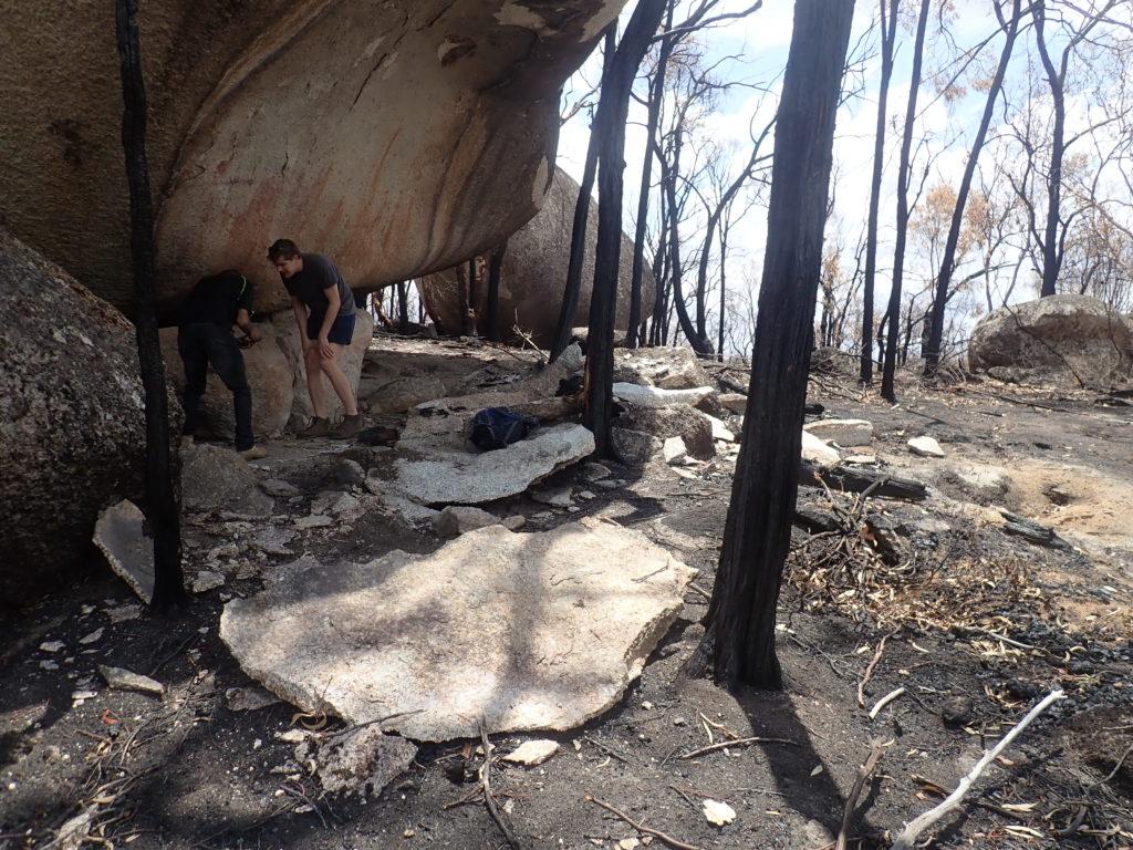 Arte rupestre aborigena danneggata dagli incendi in Australia