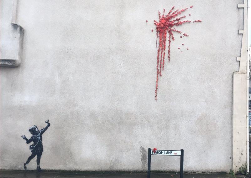 La nuova opera di Banksy a Bristol per San Valentino
