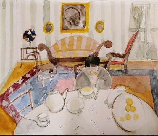 Mario Lattes – Biblioteca.  Illustrazioni per l'antologia scolastica