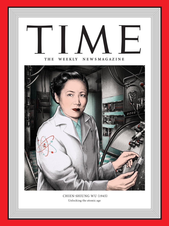 Una delle prime donne fisiche della storia del Novecento è lei: Chien Shiung (Illustration by Jennifer Dionisio for TIME; Bettmann/Getty)