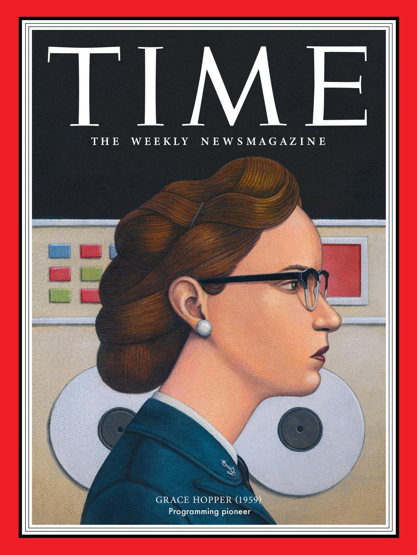 Grace Hopper, matematica e informatica militare, pioniera della programmazione informatica (Illustration by Marc Burckhardt for TIME; Alamy)