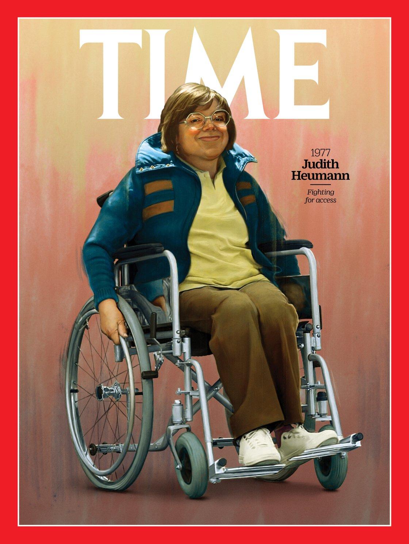 Judith Heumann è un'attivista nota a livello internazionale per la sua difesa dei diritti delle persone disabili (Illustration by Jason Seiler for TIME; HolLynn D'Lil/Becoming Real in 24 Days)
