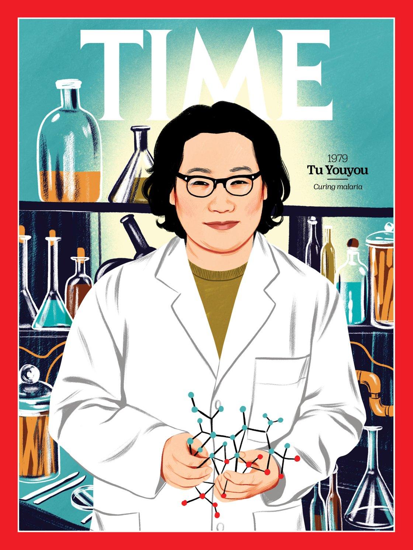 Nobel per la medicina, Tu Youyou è una delle più importanti chimiche cinesi (Illustration by Bijou Karman for TIME; Paul U. Unschuld)
