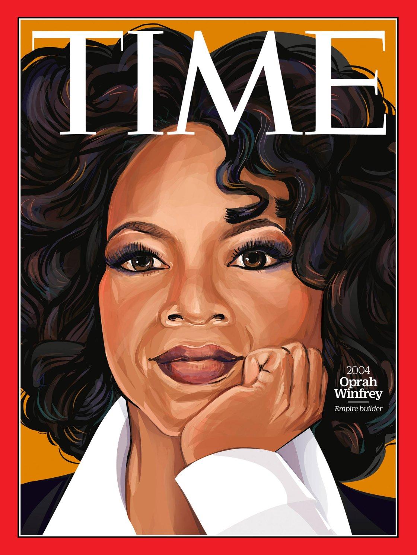 Immancabile Oprah Winfrey, uno dei maggiori personaggi televisivi della contemporaneità (Illustration by Amanda Lenz for TIME)
